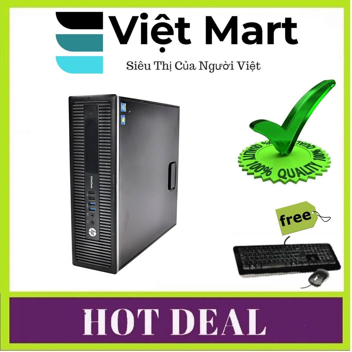 HP ELITE DESK 800 G1 ULTRA SLIM PC I5 4460S - RAM 4GB - HDD 500GB