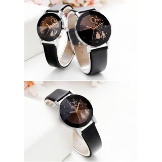 Đồng hồ cặp, đồng hồ đôi tình nhân dây da Geneva cao cấp - DHC001 thumbnail