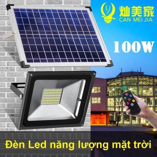 Đèn năng lượng mặt trời led pha công suất 100W