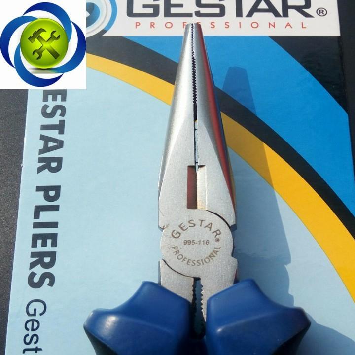 Kềm mỏ nhọn xanh đen Gestar 995-116 160mm 4