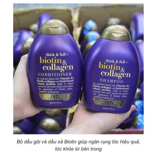 combo xã gội-Tác dụng dầu gội Biotin Collagen OGX MP145