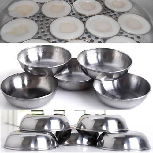 Bộ 20 Chén Inox Làm Bánh Bèo, Đựng Nước Chấm Tiện Dụng