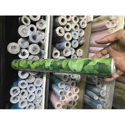 giấy dán tường hoa leo xanh