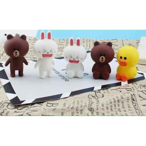 móc khoá line gấu thỏ vịt - 4458276 , 12847441 , 15_12847441 , 20000 , moc-khoa-line-gau-tho-vit-15_12847441 , sendo.vn , móc khoá line gấu thỏ vịt