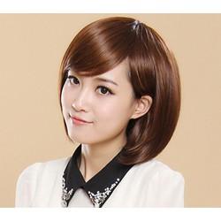 tóc giả nữ NGUYÊN ĐẦU TẶNG KÈM LƯỚI TRÙM TÓC- kiểu mái xéo ngắn