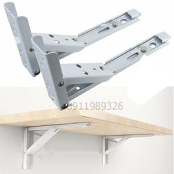 Bộ 2 bản lề gấp thông minh cho bàn treo tường tải trọng 40kg
