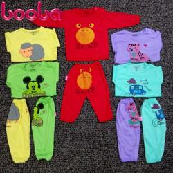 XẢ KHO!!!Sét 5 bộ áo dài quần dài cho bé từ 6-8kg DD0610