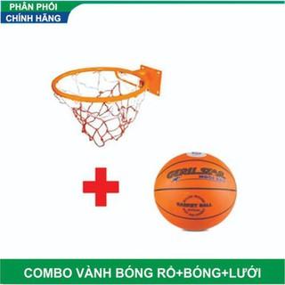 Combo bộ Vành bóng rổ 40 cm + Bóng prostar số 7 - Vành 40 cm + Bóng số 7 thumbnail
