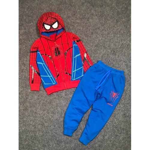 Bộ áo khoác da cá ấm áp người nhện Spiderman size nhỏ và đại