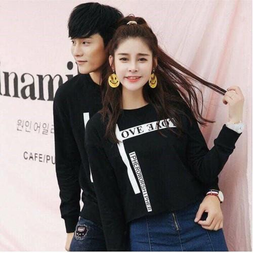 COMBO 2 Áo thun cặp đôi Nam Nữ phong cách Hàn Quốc OVE ƎΛO˥ form rộng vải dày mịn - Thời Trang GMH