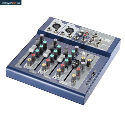 Bộ trộn âm thanh Mixer F4-USB
