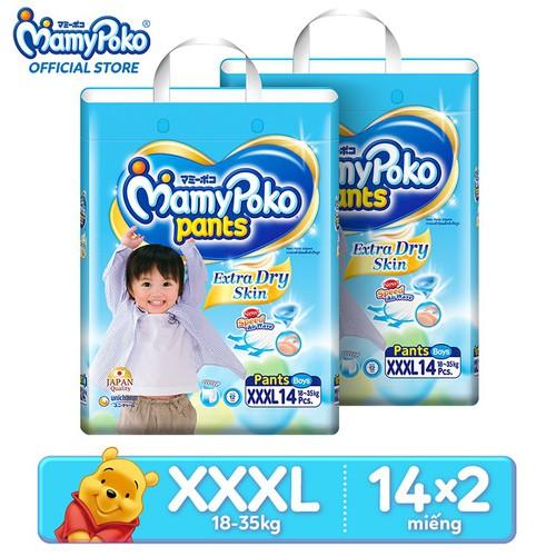 Combo 2 gói tã quần cao cấp siêu khô thoáng Jumbo MamyPoko Boys XXXL14