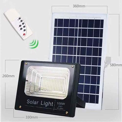 Đèn LED năng lượng mặt trời JINDIAN 100w JD-8800