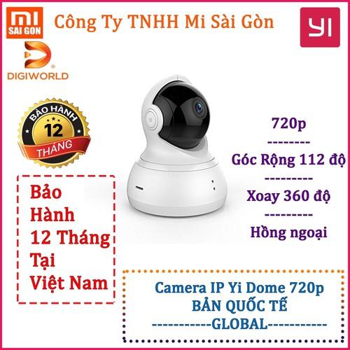 Camera IP thông minh YI Dome 720p -BẢN QUỐC TẾ- Digiworld phân phối