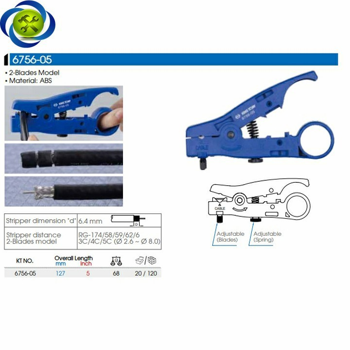 Kềm tuốt vỏ dây điện Kingtony 6756-05 5