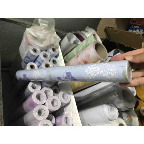 giấy dán tường hoa tím