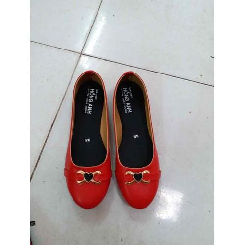 Giày búp bê nữ đỏ tim