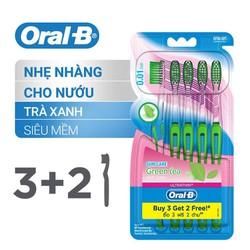 Bộ 5 bàn chải đánh răng Oral-B Trà xanh Lông tơ siêu mềm