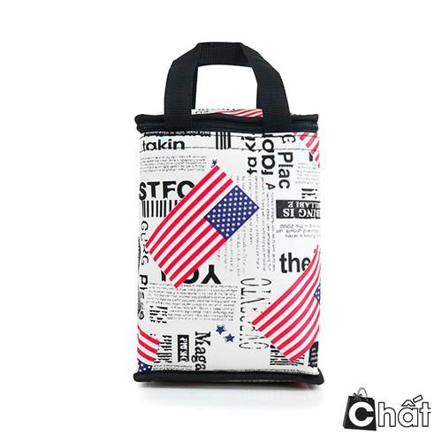 NHẬP MÃ HOÀN TIỀN CB_H30 Túi giữ nhiệt phong cách Châu Mỹ kiểu đứng