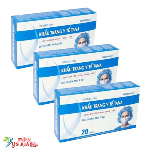 Bộ 3 hộp Khẩu trang y tế Tân Á 3 lớp bọc nilon 60 chiếc - 6282832 , 12867020 , 15_12867020 , 94400 , Bo-3-hop-Khau-trang-y-te-Tan-A-3-lop-boc-nilon-60-chiec-15_12867020 , sendo.vn , Bộ 3 hộp Khẩu trang y tế Tân Á 3 lớp bọc nilon 60 chiếc