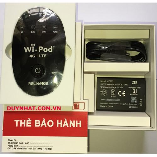 Thiết Bị Phát Wifi 4G - Thiết Bị Wifi ZTE Wi-Pod - Tốc Độ Tên Lửa