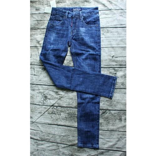 Quần Jeans Nam - Quần Jeans Nam Xanh Trơn