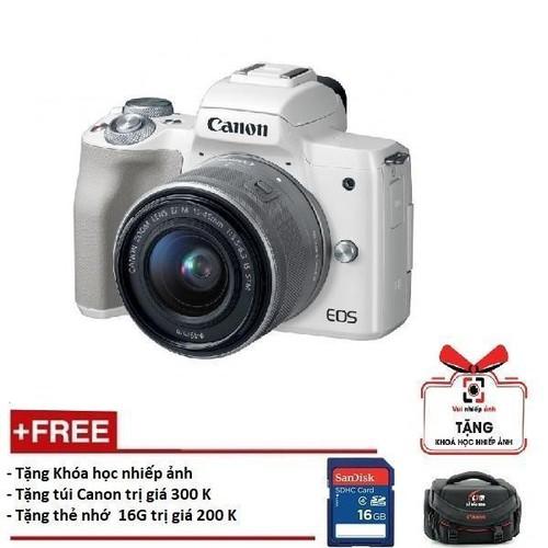 Canon EOS M50 kèm Lens 15-45mm - Màu trắng  Hàng phân phối chính thức - 6282838 , 12867029 , 15_12867029 , 13790000 , Canon-EOS-M50-kem-Lens-15-45mm-Mau-trang-Hang-phan-phoi-chinh-thuc-15_12867029 , sendo.vn , Canon EOS M50 kèm Lens 15-45mm - Màu trắng  Hàng phân phối chính thức