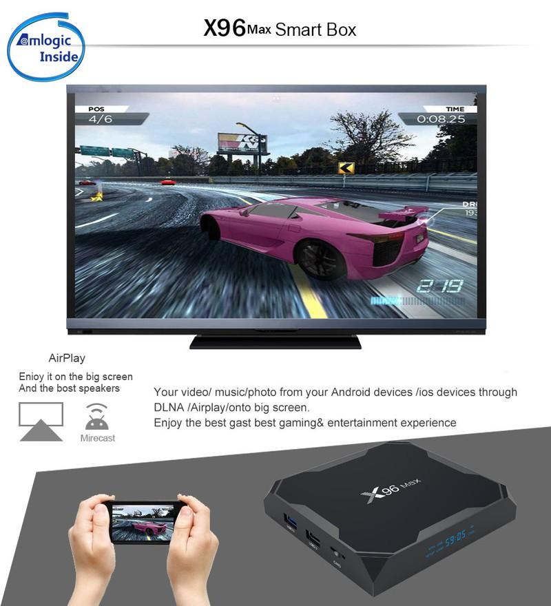Android TV Box X96 max - phiên bản Ram 2G, bộ nhớ trong 16GB 5