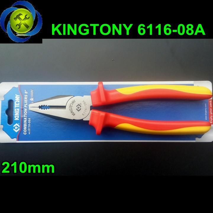 Kềm điện Kingtony 6116-08A 1000V 8 inch 1