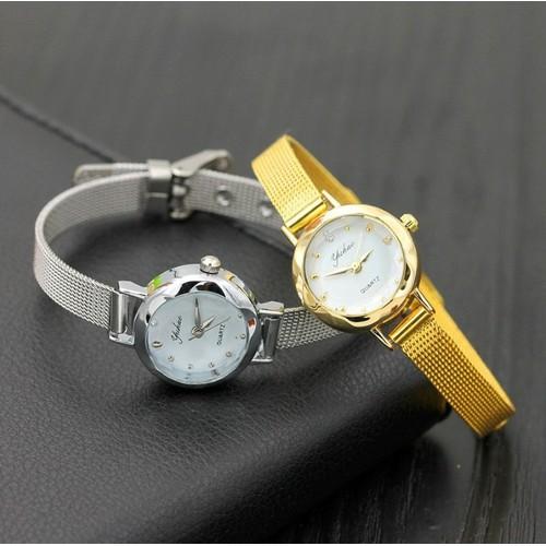 Đồng hồ Yuhao dây thép lụa xinh xắn
