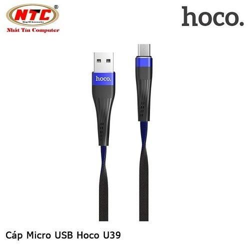 Cáp sạc-truyền dữ liệu Hoco U39 microUSB- Hãng phân phối chính thức