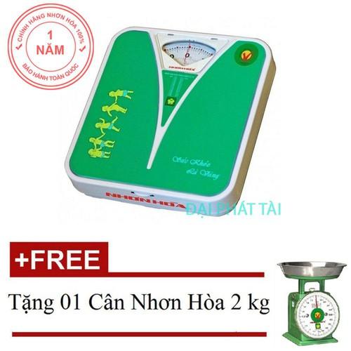Cân sức khỏe Nhơn Hòa NHHS-120-K0 120 kg Xanh + Tặng 01 Cân