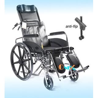 Ghế vệ sinh người già kết hợp xe lăn ngả nằm chống lật nhôm siêu bền - xl608LGCJB thumbnail