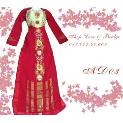 Áo dài cưới truyền thống 1  kèm quần