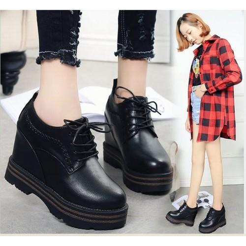 Giày bánh mì cá tính thời trang màu đen Bm070