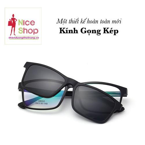 Mắt kính gọng kép thời trang loại tốt - MKDL108D