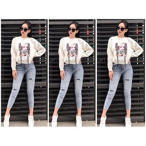Quần jean dài big size co dãn mạnh size đại 2393