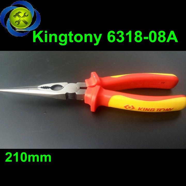 Kềm mỏ nhọn Kingtony 6318-08A 1000V 8 inch 1
