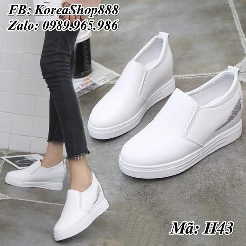 Giày sneaker Nữ độn đế 6p H43