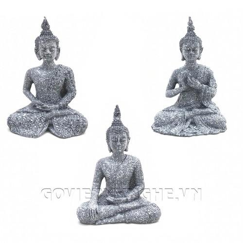 Combo Tượng Đá Phật Thái Thủ Ấn - Đá Xám
