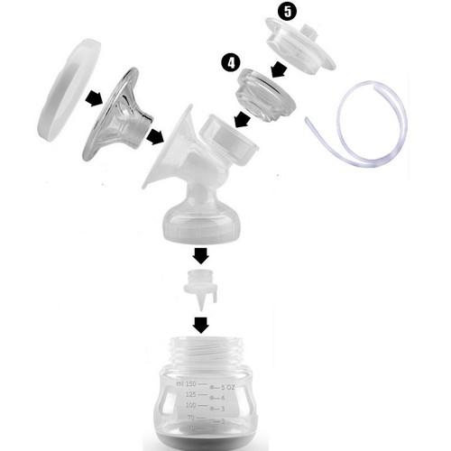 Bộ phụ kiện hút sữa cổ rộng kèm bình 150ml phụ kiện máy hút sữa điện