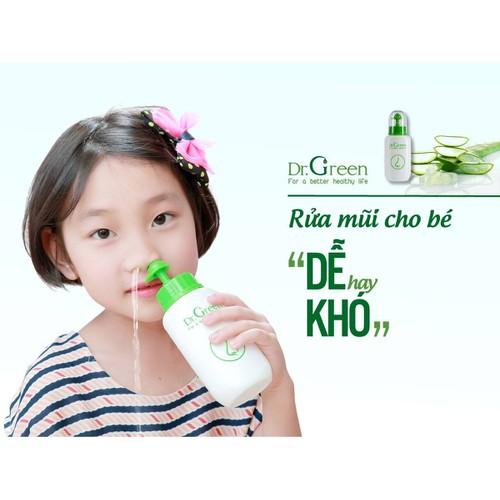 Bình rửa mũi an toàn cho bé kèm 10 gói dung dịch Dr Green