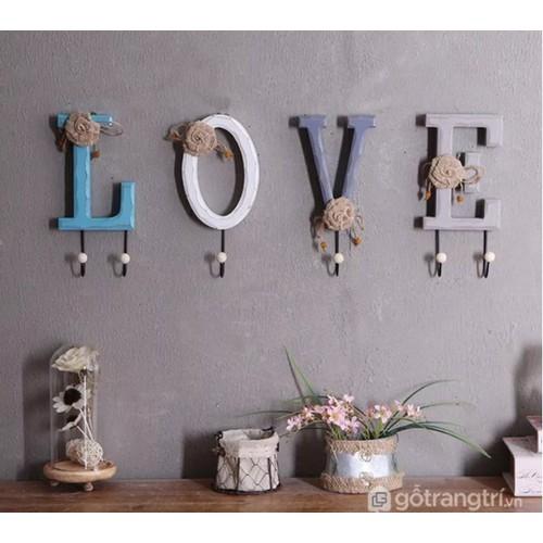 Móc treo chữ home love, móc treo chữ, móc treo đồ hình chữ