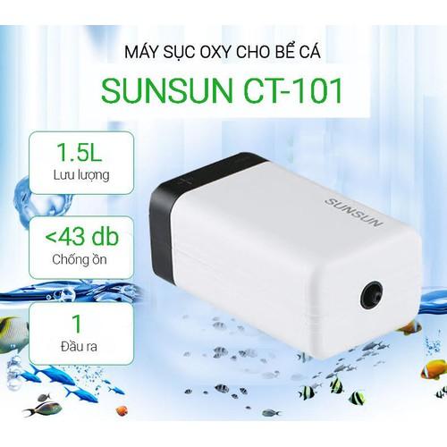 Máy sủi khí oxi nuôi cá cảnh cho bể 90 lít SUNSUN CT-101