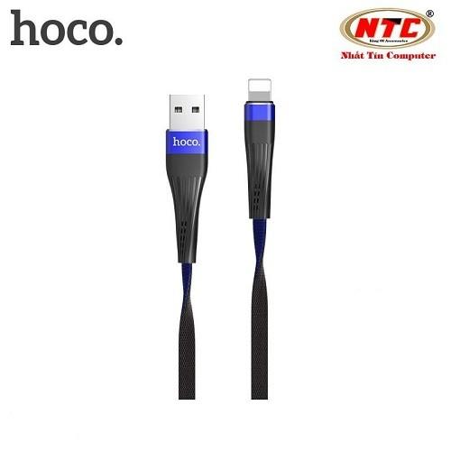 Cáp sạc-truyền dữ liệu Hoco U39 Lightning-Hãng phân phối chính thức - HOCOU39IP-XANH