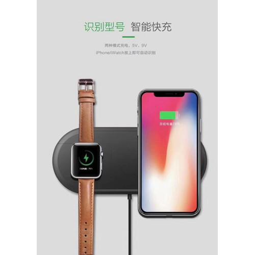 Đế sạc không dây 2 in 1 cho Iphone và Apple Watch