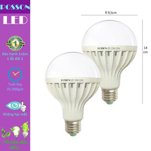 2 Bóng đèn cảm ứng 12w Led thông minh tự sáng khi có người LiB-S12