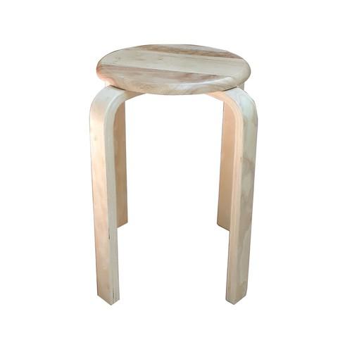 Ghế đôn tròn chân dẹt cao 45cm bằng gỗ