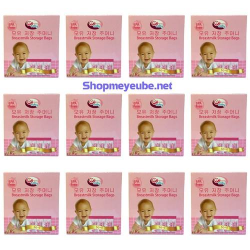 12 hộp túi trữ sữa gb baby