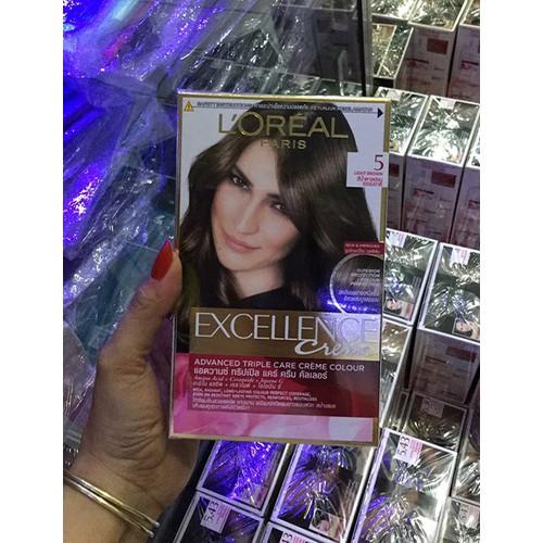 nhuộm tóc LOreal Paris Exc Crème #5 172ml Nâu sáng tự nhiên